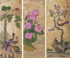 Посетители экспозиции смогут увидеть образцы национальной живописи минхва, выполненные на шелке и бумаге. Фото: пресс-служба Музея Востока