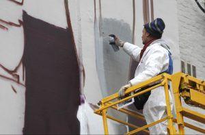 Граффити нарисуют на стенах здания Министерства обороны России. Фото: официальный сайт мэра Москвы