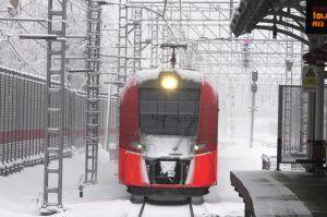 Москвичам порекомендовали совершать поездки на МЦК и другом общественном транспорте из-за снега. Фото: Антон Гердо, «Вечерняя Москва»