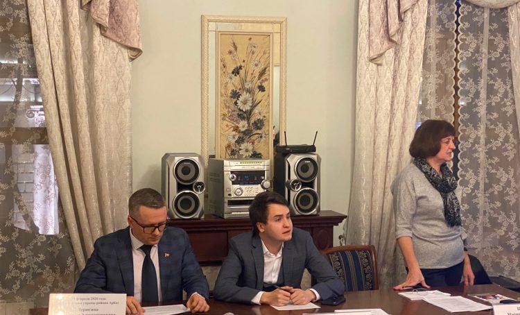 Встреча главы управы района Арбат Максима Дерюгина с жителями прошла 19 февраля. Фото: Алина Берестова