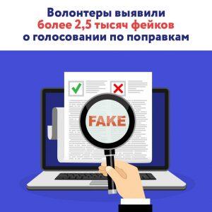 Представители Общественной палаты Москвы выявили около 2,5 тысячи фейков о нарушении процесса голосования