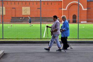 Урок скандинавской ходьбы проведут сотрудники филиала «Наш Арбат». Фото: Анна Быкова