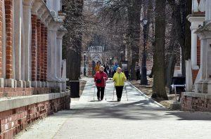 Занятие скандинавской ходьбой проведут работники филиала «Наш Арбат». Фото: Анна Быкова